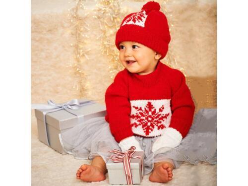 Stylecraft 9576 Snowflake Sweater Hat and Mittens in Wondersoft Stardust DK
