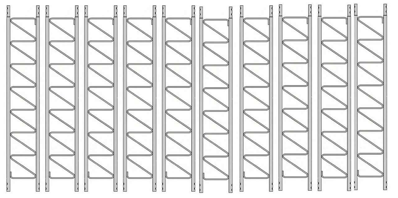 New (Lot of 10) ROHN 25G 10' Tower Section - Standard 25G Tower Sections.