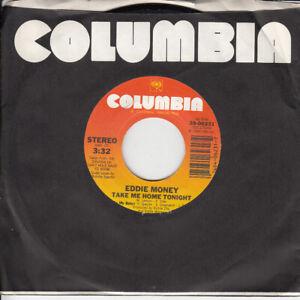 Eddie-Money-Take-Me-Home-Tonight-b-w-Calm-Before-The-Storm-45-rpm-Record-VG