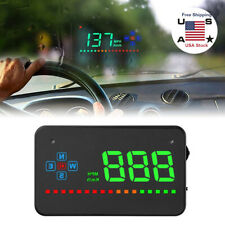 "Universal 3.5/"" Car GPS HUD Head Up Display Speed Projector Overspeed Warning Kit"