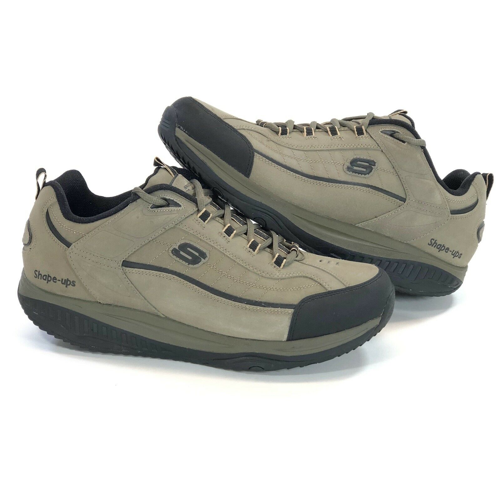 sports shoes f6f0c 583fb Skechers Shape-Ups Mens Size 16 Fitness Walking shoes Suede Leather 52000EW