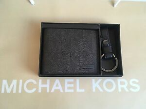 795ffe66e4 ... uk image is loading nib michael kors mens slim billfold wallet and  516bf 77391 new style michael kors jet set medium travel saffiano leather  ...