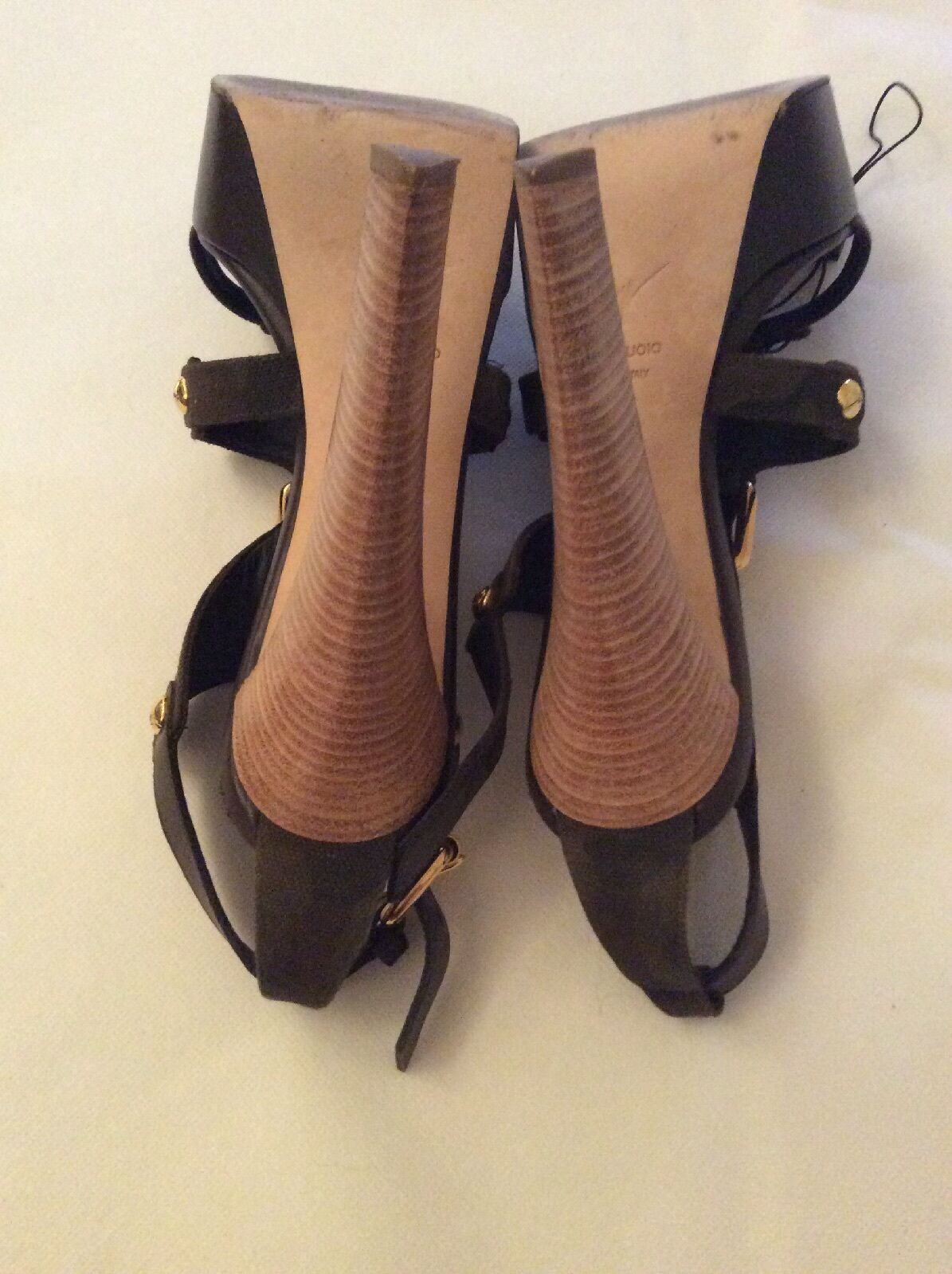 Authentic Giuseppe Zanotti chunky size High heeled sandals  UK size chunky 7, f00322