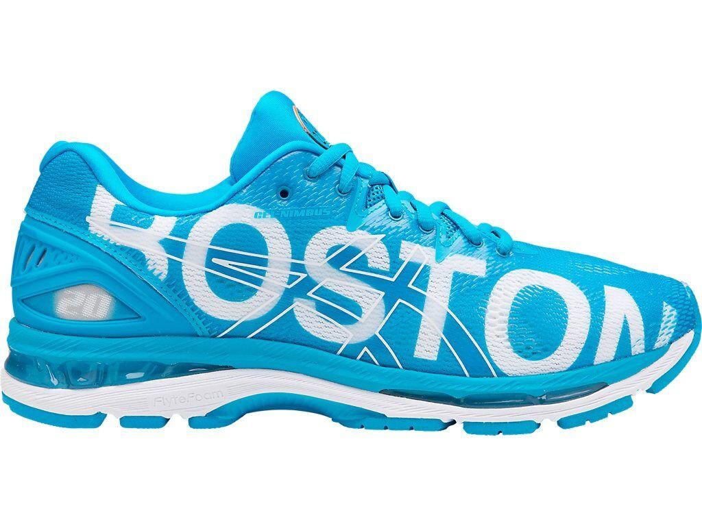 Iconos De Ciudad Asics Gel-Nimbus 20 Boston Azul Zapato de hombre para correr maratón T8B4N 4141