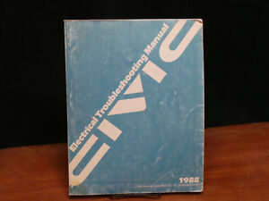 Image Is Loading Factory Service Manual Honda Civic 1988 Electrical Troubleshooting