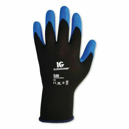Medium//Size 8 Blue KLEENGUARD G40 Nitrile Coated Gloves 12 pairs.