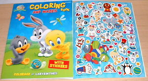 Tv Cartoon Baby Looney Tunes Coloring Activity Book With Stickers
