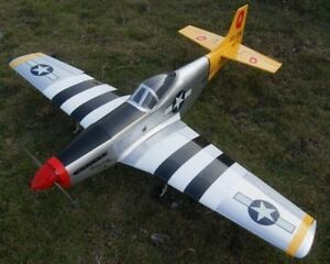 65in-Balsa-P-51D-Mustang-Electric-Nitro-Powered-6CH-RC-R-C-Plane-Warbird-ARF-Kit
