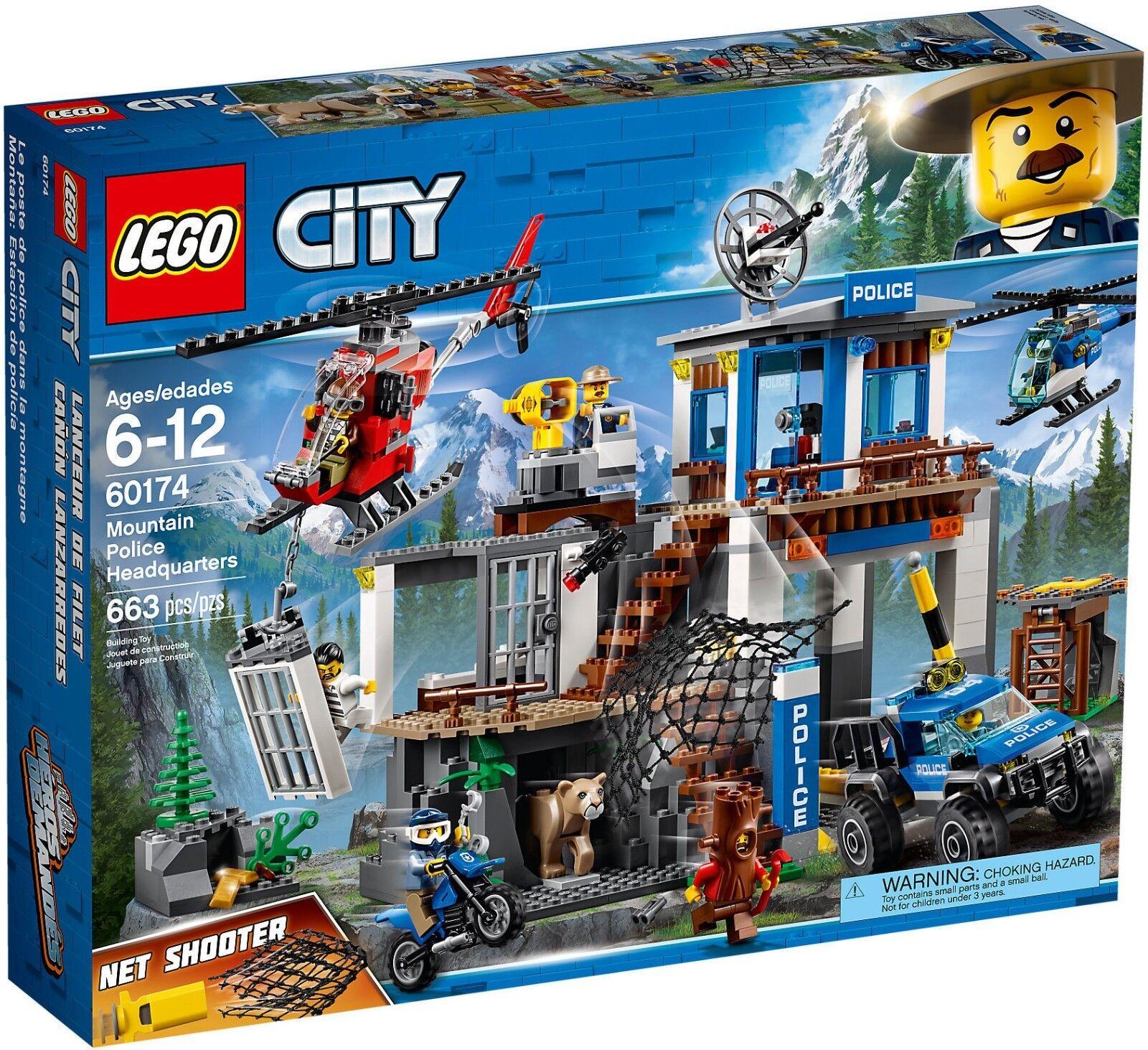 LEGO 60174 Quartier generale della polizia di montagna - CITY 6-12 Pz 663