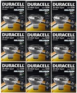 9-X-Duracell-35w-50w-Eco-Energiesparende-MR16-Halogen-Deckenstrahler-Strahler