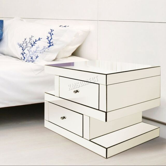 next mirrored furniture. WestWood Mirrored Furniture Clear Glass Bedside Cabinet Table Unit Bedroom MT04 Next N