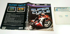 Super-Cycle-EPYX-1986-Commodore-64-Original-Disk-Spiel-C64-Diskette-Insert