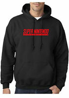 Super Nintendo Classic Gamer Cos Play Hoodies Unisex S-2xl Black Or Grey