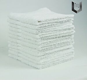 PACK-OF-12-WHITE-FACE-CLOTHS-TOWELS-100-COTTON-FLANNELS-WASH-CLOTHS-450-GSM