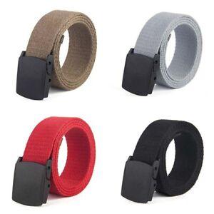 Canvas-Men-Tactical-Gentleman-Belt-Waist-Leisure-Military-Outdoor-Breathable