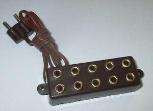 Barre-de-Distributeur-Avec-Cable-de-Raccordement-5-Connexions-2-6mm-Neuf