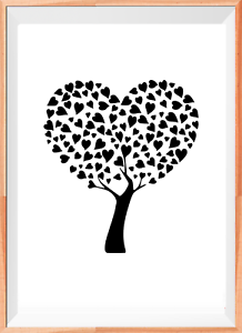 Tree Hearts A4 Mylar Reusable Stencil Airbrush Painting Art Craft DIY Home