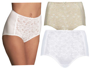 NEW MARKS /& SPENCER WHITE LACE FRONT COTTON BLEND BRIEFS FULL KNICKERS SZ 10  26
