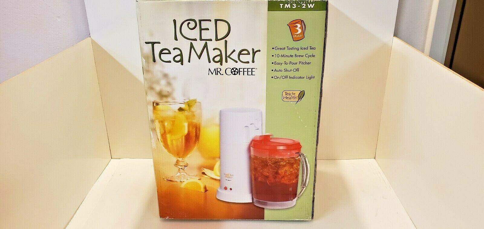 Mr. Coffee NEUF TM3P-2W 3-Quart Ice Tea Pot MAKER très rare Rouge Couvercle Pichet