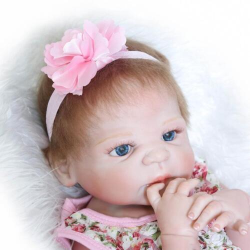 23 Full Body Silicone Reborn Baby Sleeping Doll Vinyl Lifelike Newborn Girl
