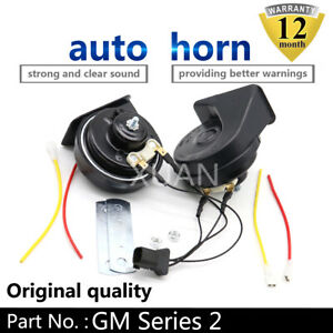 For-GM-Series-Black-12V-Loud-Auto-Horn-Snail-Electric-Air-Horn-Universal-ABS