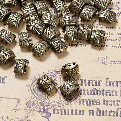 Link - Verbinder - Zwischenperlen 3 Löcher Bronze  Silber Farbe schmuck basteln