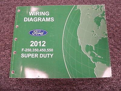 2012 Ford F250 F350 F450 F550 Super Duty Truck Electrical Wiring Diagram Manual Ebay