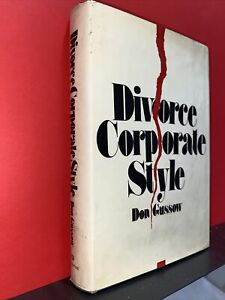 divorce corporate style 1972  don gussow signed first edition Hardcover with dus