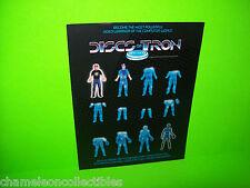 Bally Midway DISCS OF TRON 1983 Original NOS Video Arcade Game Promo Flyer RARE