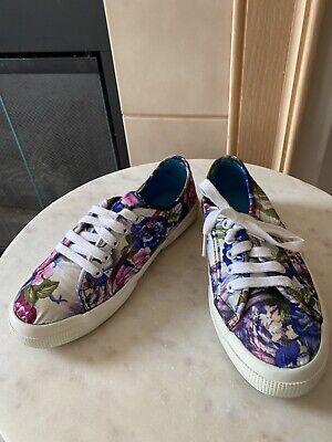 Superga Floral Print Athletic Shoes