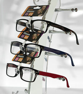Wayfarer-Style-Reading-Glasses-Designer-Spring-Hinge-Good-Quality-Made-2-Last