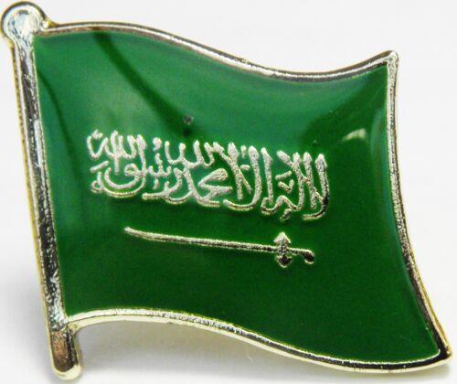 Saudi Arabia Arabian Country Flag Lapel Hat Cap Tie Pin Badge Brooch