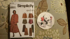 Easy Plus Size Top Pants Skirt Scarf Sewing Pattern 18w - 24w Simplicity 9839