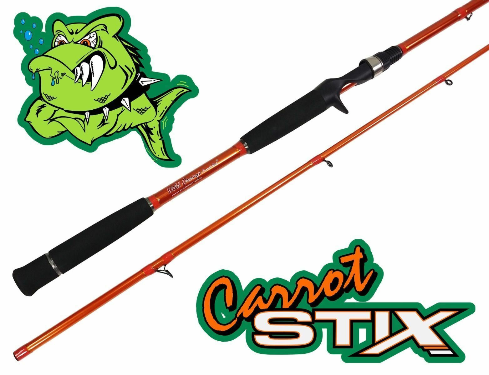 Carred Stix CASTING  10' MEDIUM HEAVY WILD orange Salmon Steelhead Fishing Rod  cheap and fashion