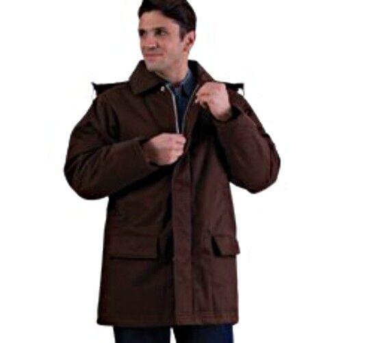 Heavy Duty Classic Braun Parka with Zip Off Hood  in Größes 3XL