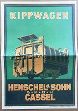 1925 HENSCHEL & SOHN CASSEL KASTENKIPPER MULDENKIPPER SELBSTENTLADER RATHJENS 36