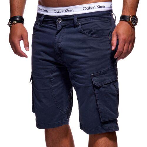 Behype Uomo Bermuda Pantaloncini Cargo Pantaloni Corti Navy//Cachi//Grigio Nuovo