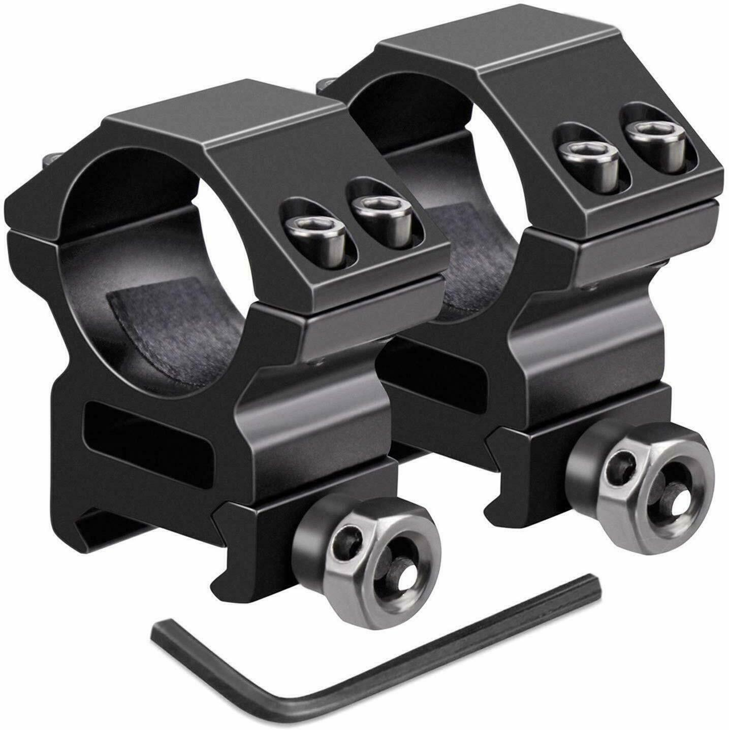 Weaver Style 30mm Rings With 1 Inch Insert Heavy Duty For Rifle Scope
