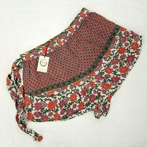Floral Pantaloncini Boho Raga Sz con cintura L Viola foresta Festival Hippie incantata Nwt 4xawPq4