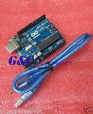 NEW UNO R3 BOARD ATMEGA328P-PU ATMEGA16U2 FOR ARDUINO +USB Cable M10