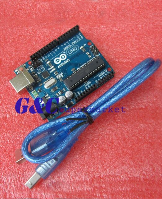 2PCS NEW ATMEGA328P-PU ATMEGA16U2 UNO R3 BOARD FOR ARDUINO +USB Cable M10