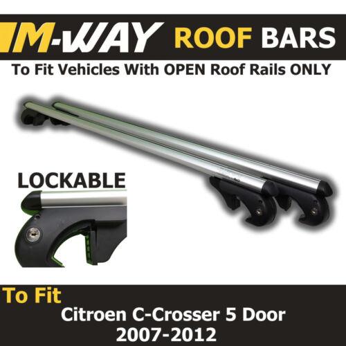Locking Roof Bars Citroen C-Crosser 5 Door 07-12 Aero MWay Eagle XL