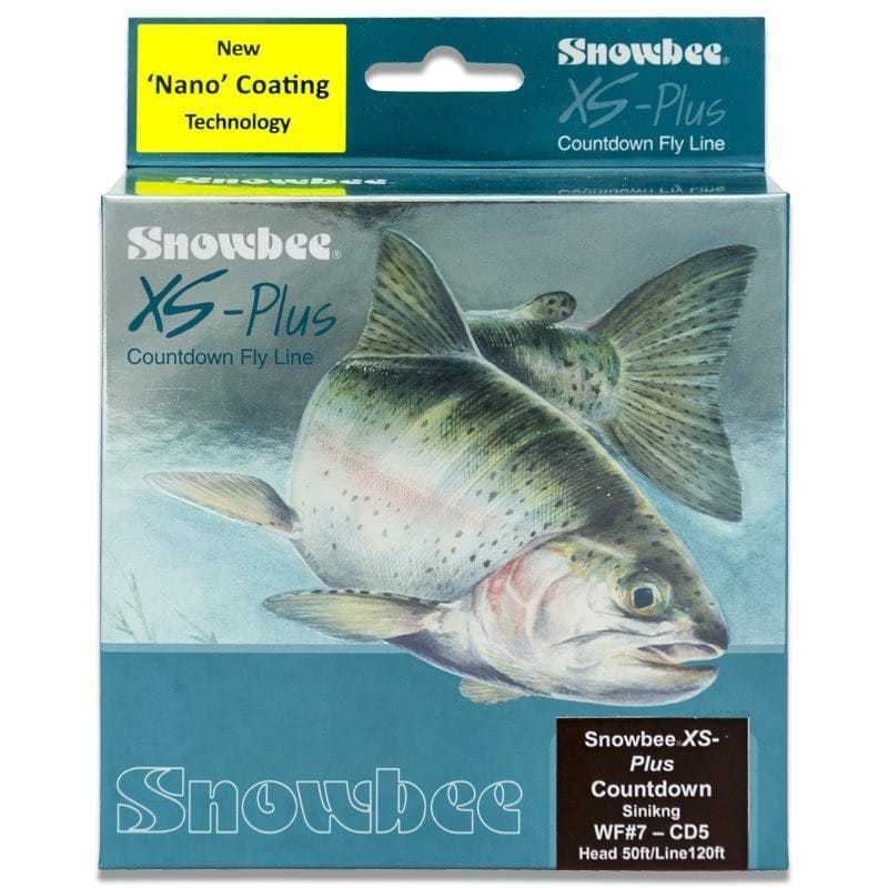 Snowbee XS-Plus Nano Countdown Red (5ips) Sinking Fly Line Brown Red WFCD5