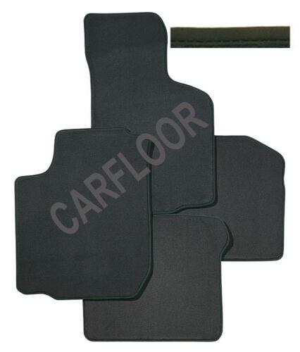 Für BMW 3er E93 Cabrio Fußmatten Premium Velours anthrazit mit Nubukband schwarz