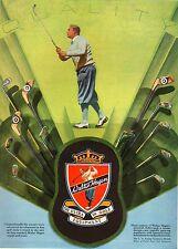 WERBUNG' TEE ULTRA EQUIPMENT IN GOLF WALTER HAGEN QUALITY CLUBS BÜGELEISEN 1929