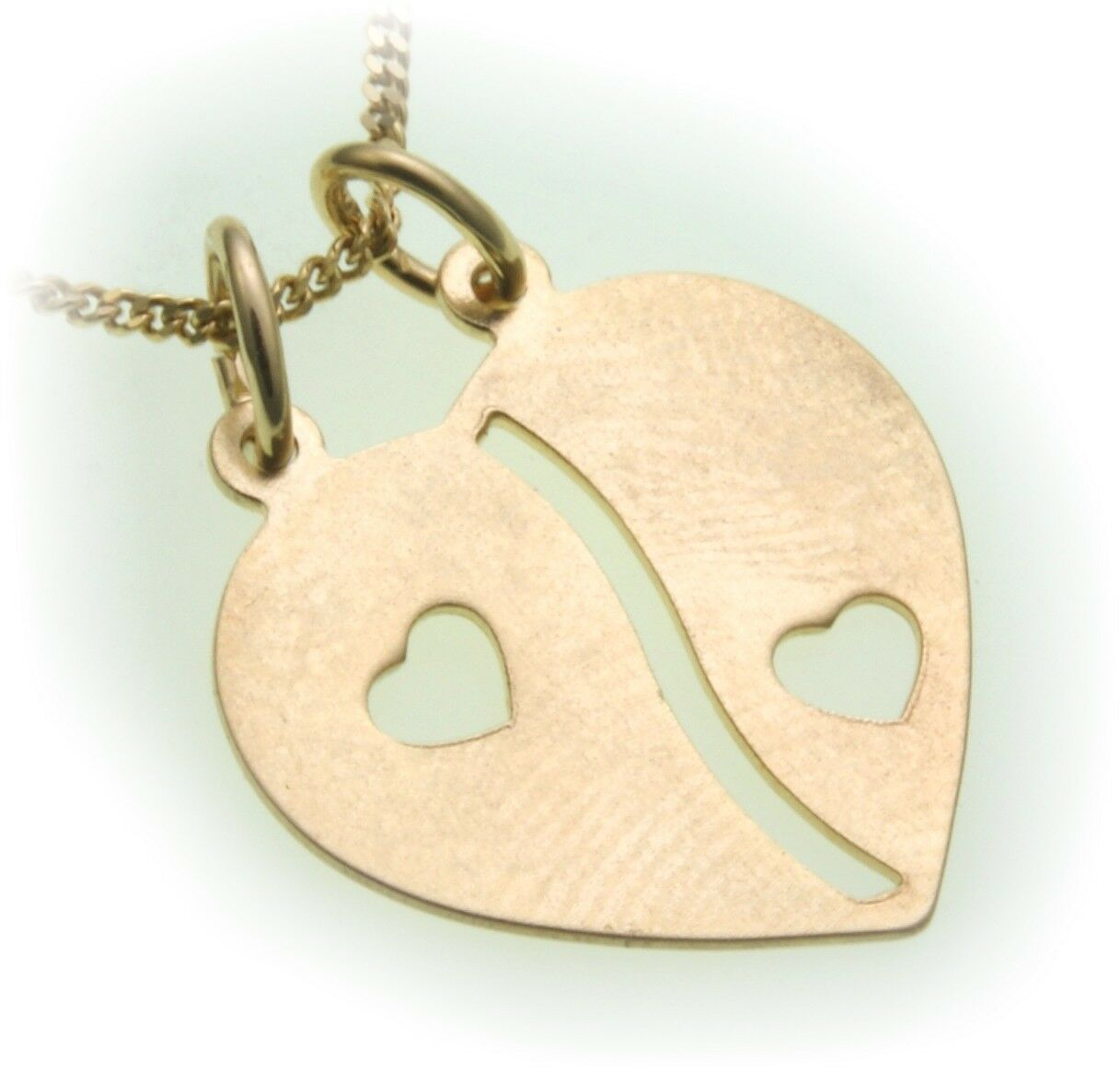 Partner Heart Pendant real gold 333 incl. Engraving Quality Yellow gold Unisex
