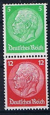 Deutsches Reich Zusammendrucke Hindenburg Minr S 109 Postfrisch ** Wir Haben Lob Von Kunden Gewonnen