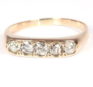 14kt-585-antiker-Damen-Gold-Ring-Diamantring-Brillant-Brilliant-Brillanten