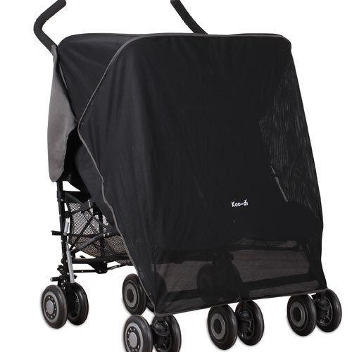 Koo-di Pack-it Sun /& Sleep Double Stroller Cover Black