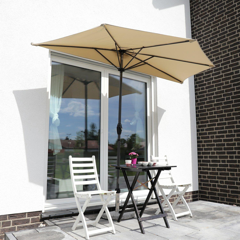 OMBRELLONE BALCONE OMBRELLONE Mercato Ombrello da giardino semicircolare Ø 2,7m UV 50+ TAUPE